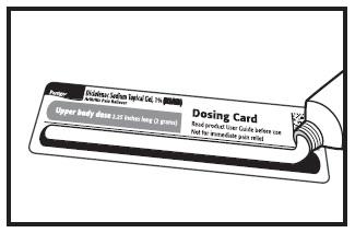 Measure using dosing card 2