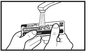 wash the dosing card