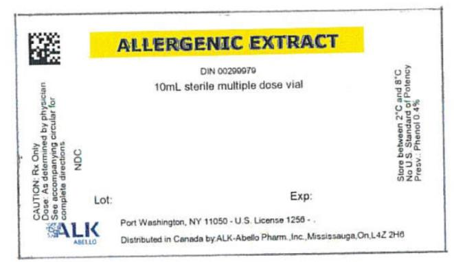PRINCIPAL DISPLAY PANEL ALLERGENIC EXTRACT DIN 00299979 10mL sterile multiple dose vial