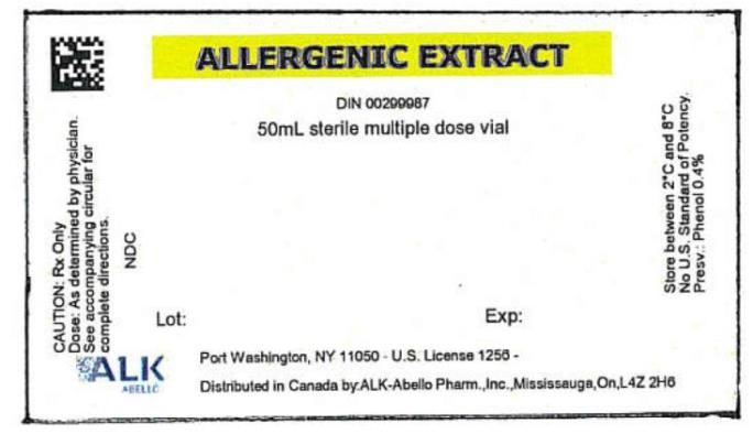 PRINCIPAL DISPLAY PANEL ALLERGENIC EXTRACT DIN 00299987 50mL sterile multiple dose vial