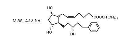 Latanoprost chemical structure