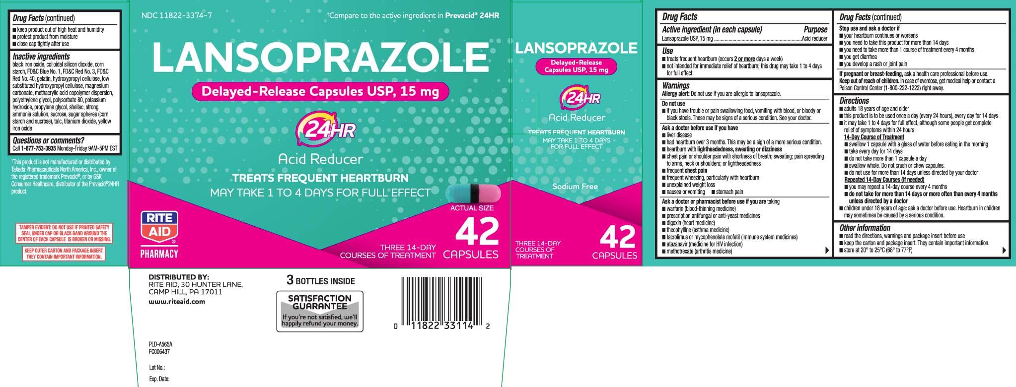 Lansoprazole USP, 15 mg