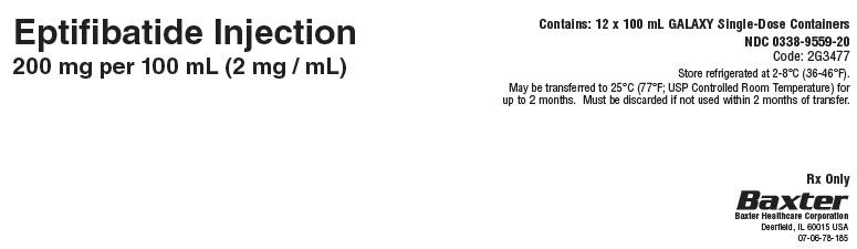 Representative Shipper Label for Serialization 0338-9559-20 panel 2 of 2
