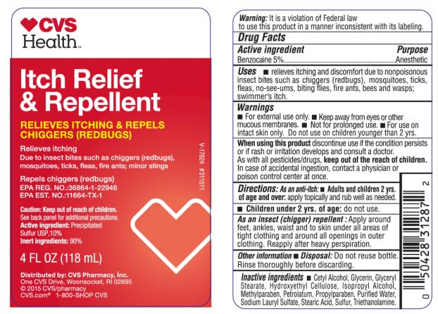 PRINCIPAL DISPLAY PANEL Itch Relief & Repellent Relieves itching & Repels Chiggers ( Redbugs) 4 FL OZ (118 mL)