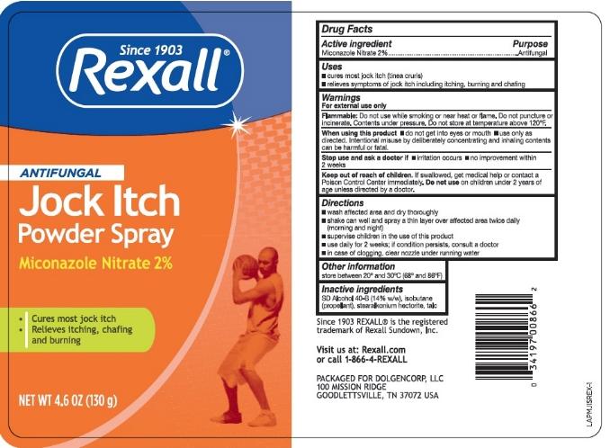 Dollar General Rexall  Jock Itch Powder Spray Talc Free - Label.jpg