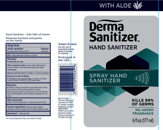 Derma Sanitizer™ Spray Hand Sanitizer 6 FL OZ (177 mL)