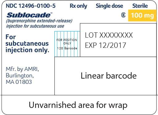 Principal Display Panel - Sublocade 100 mg Syringe Label