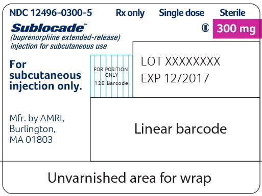 Principal Display Panel - Sublocade 300 mg Syringe Label