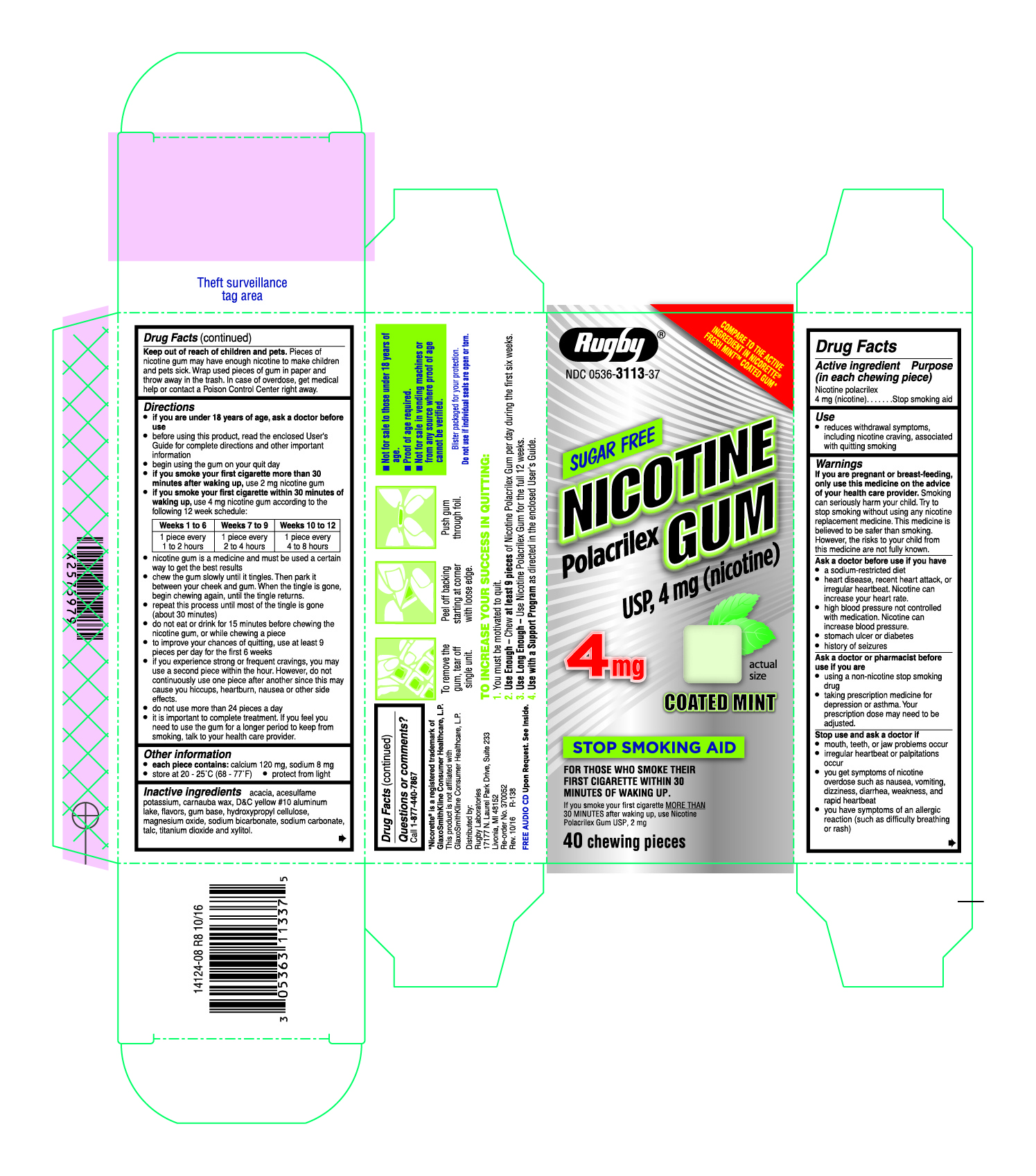 4 mg 40 count coated mint