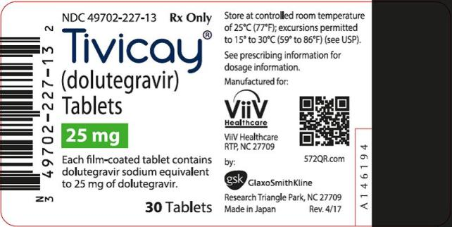 Tivicay 25 mg count label