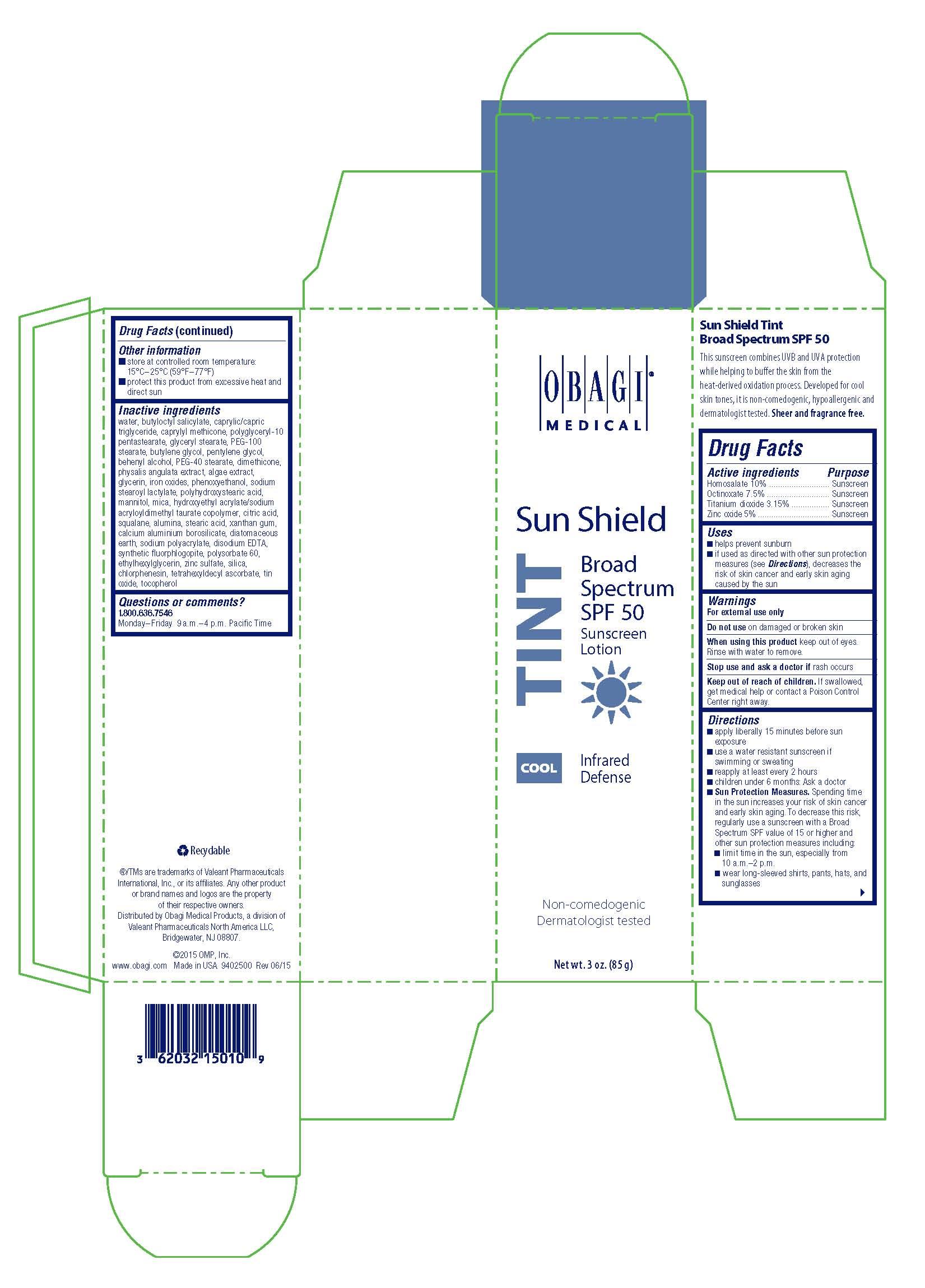 Obagi Sun Shield TINT Cool Sunscreen Broad Spectrum SPF 50 Carton