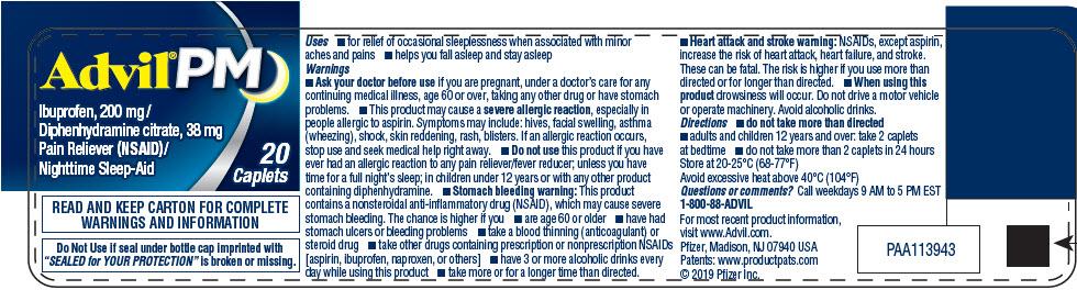 PRINCIPAL DISPLAY PANEL - 20 Caplet Bottle Label