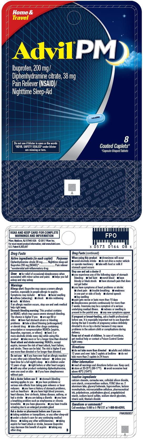 PRINCIPAL DISPLAY PANEL - 8 Caplet Vial Package