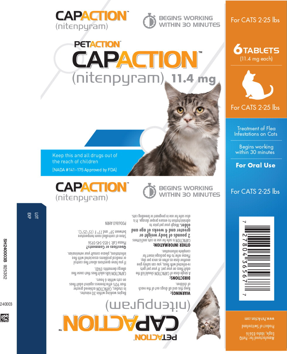 Principal Display Panel - Capaction 11.4 mg Cat Primary Blister Label