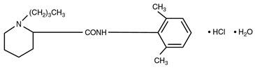 structural formula bupivacaine hydrochloride