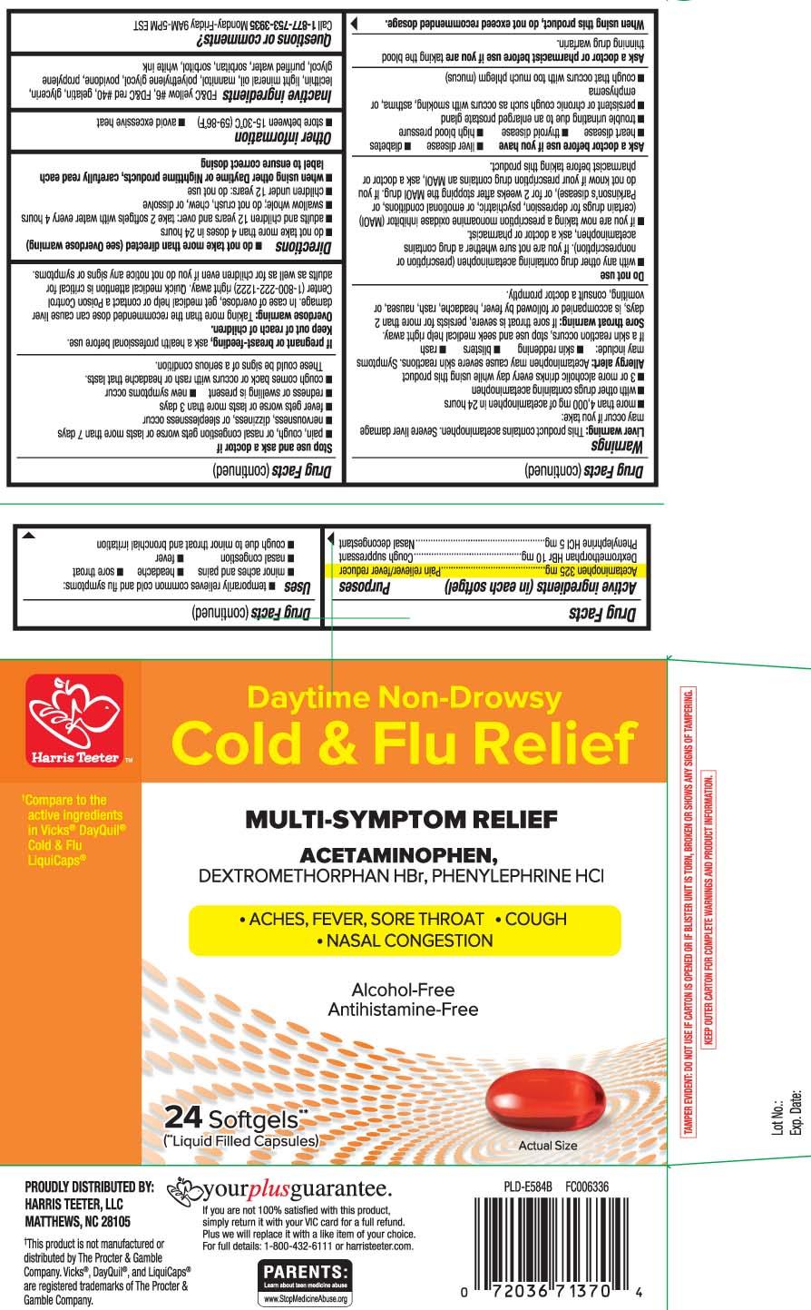 Acetaminophen 325 mg, dextromethorphan HBr 10 mg, Phenylephrine HCL 10 mg