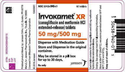 PRINCIPAL DISPLAY PANEL - 50 mg/500 mg Tablet Bottle Label - 940