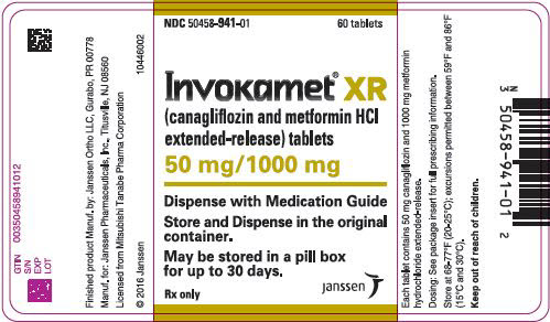 PRINCIPAL DISPLAY PANEL - 50 mg/1000 mg Tablet Bottle Label - 941