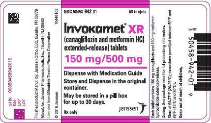 PRINCIPAL DISPLAY PANEL - 150 mg/500 mg Tablet Bottle Label - 942
