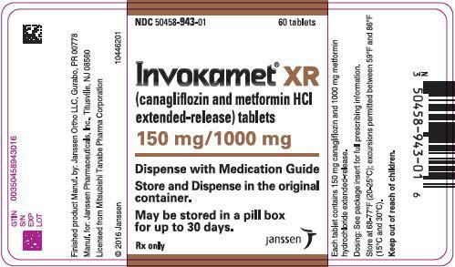 PRINCIPAL DISPLAY PANEL - 150 mg/1000 mg Tablet Bottle Label - 943