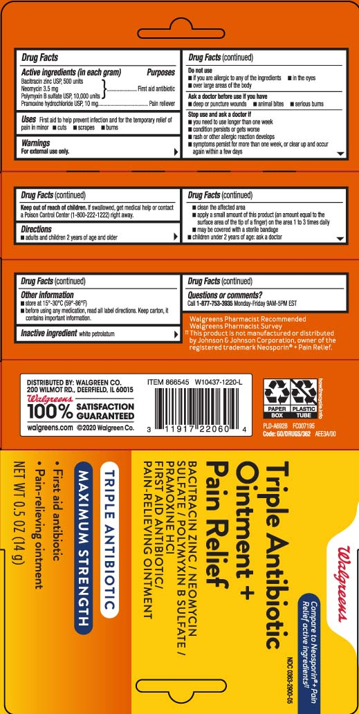 Bacitracin zinc USP, 500 units, Neomycin 3.5 mg, Polymyxin B Sulfate USP, 10,000 units, Pramoxine Hydrochloride USP, 10 mg