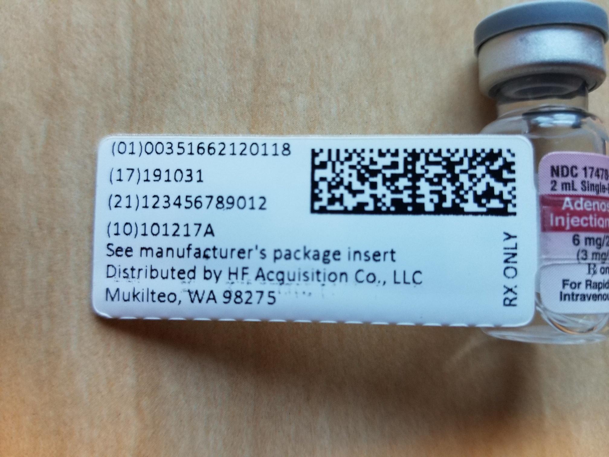 Adenosine Flag Label