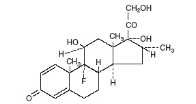 Dexamethasone (structural formula)