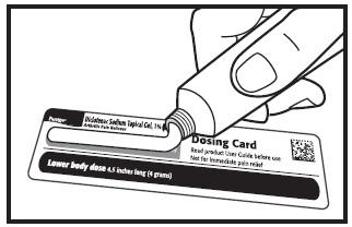 measure using dosing card