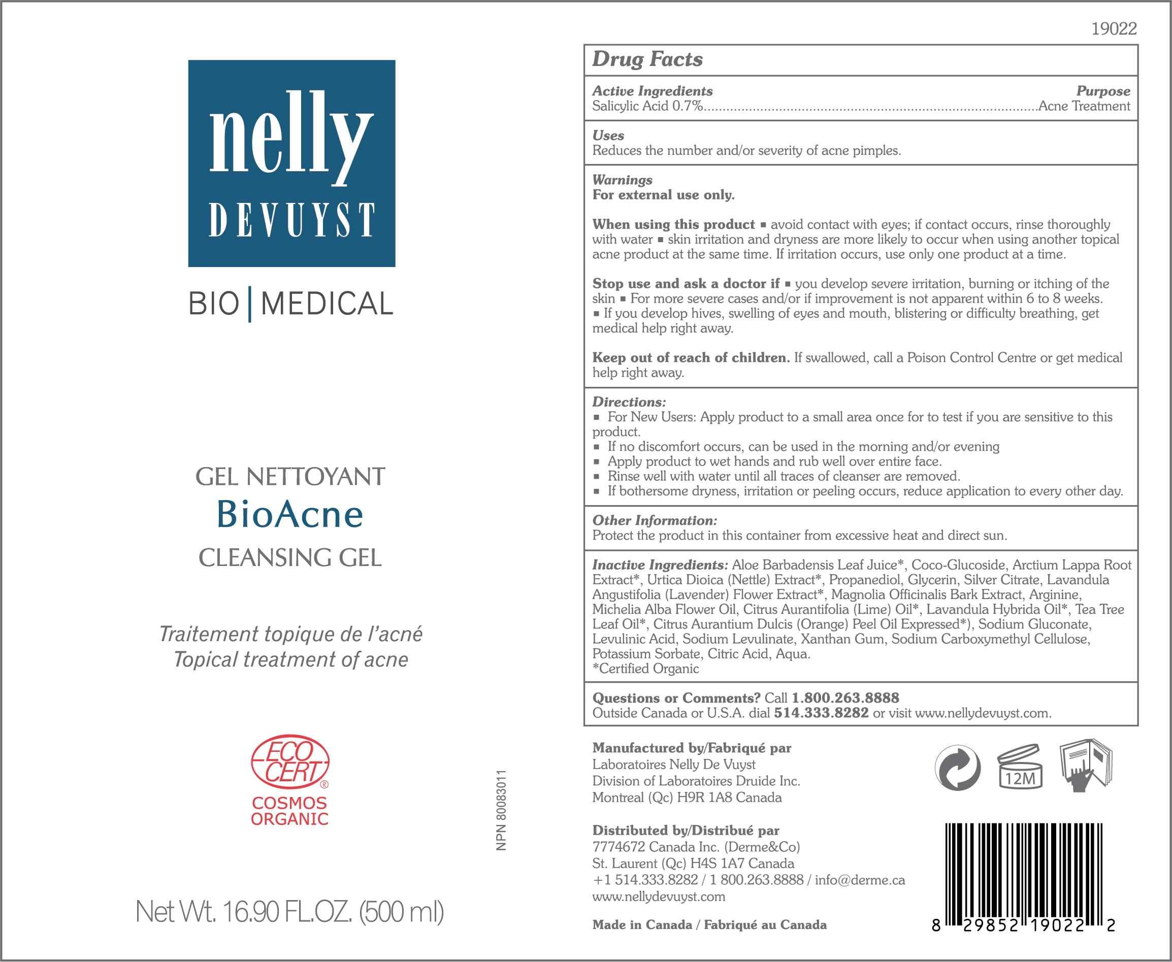 Nelly Devuyst Cleansing Gel BioAcne 500ml
