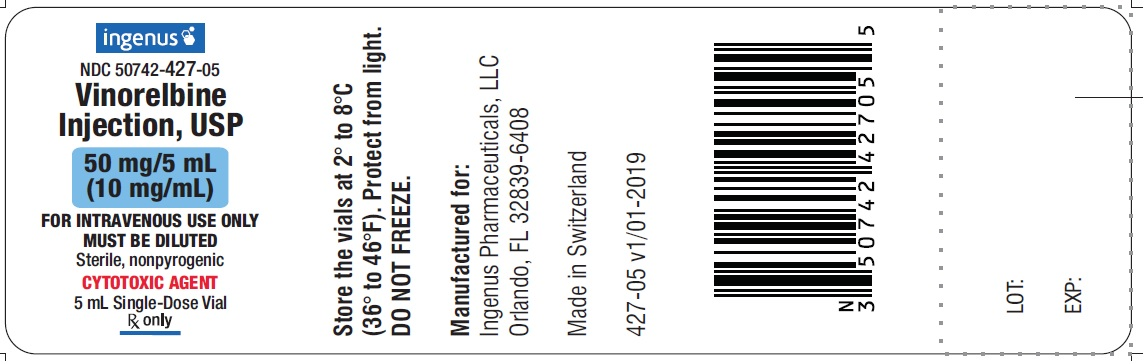 Vinorelbine Injection Vial Label - 50mg/5mL