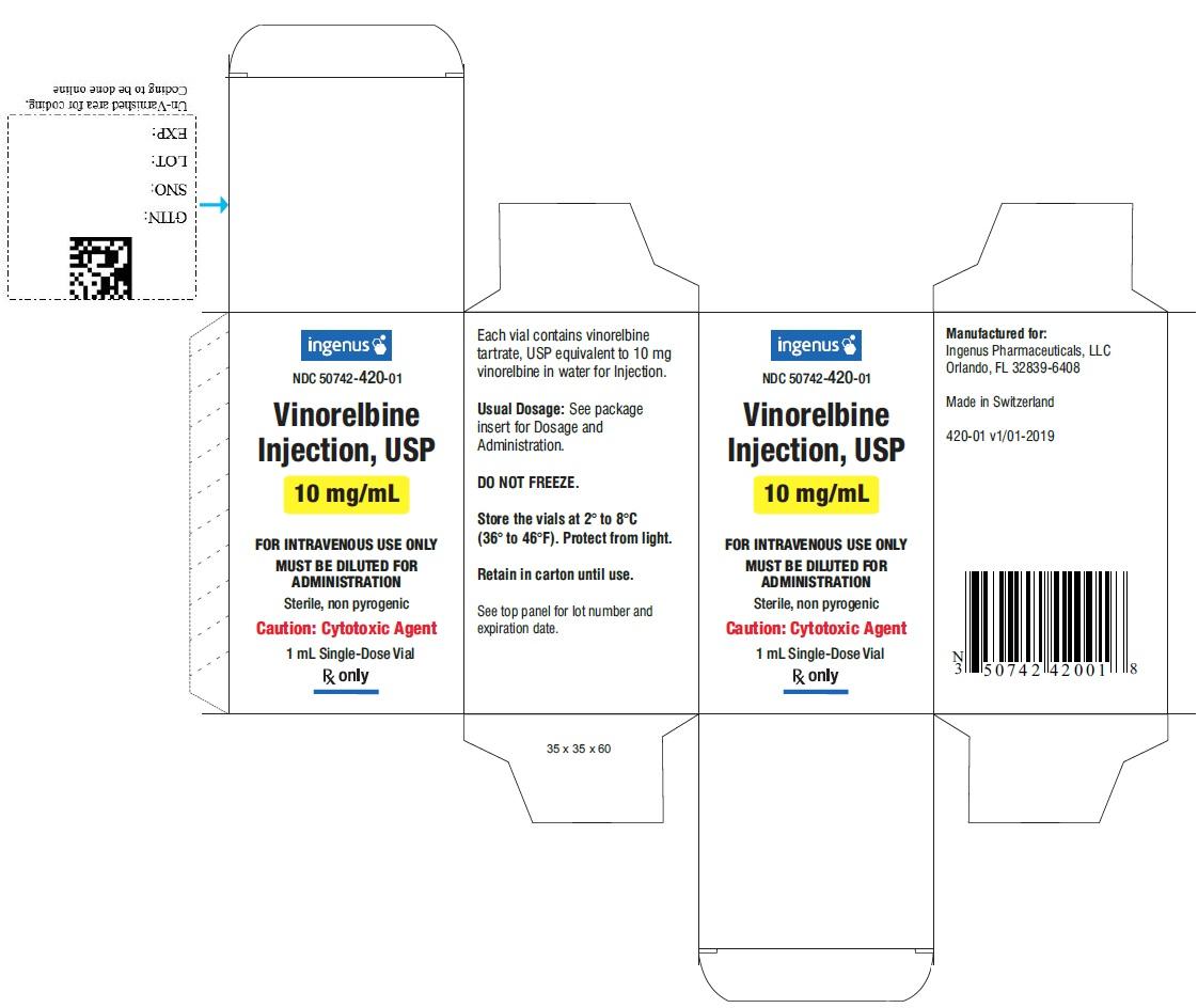 Vinorelbine Injection Carton Label - 10mg/mL
