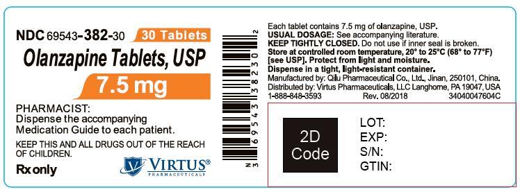 PACKAGE LABEL-PRINCIPAL DISPLAY PANEL - 7.5 mg (30 Tablets Bottle)