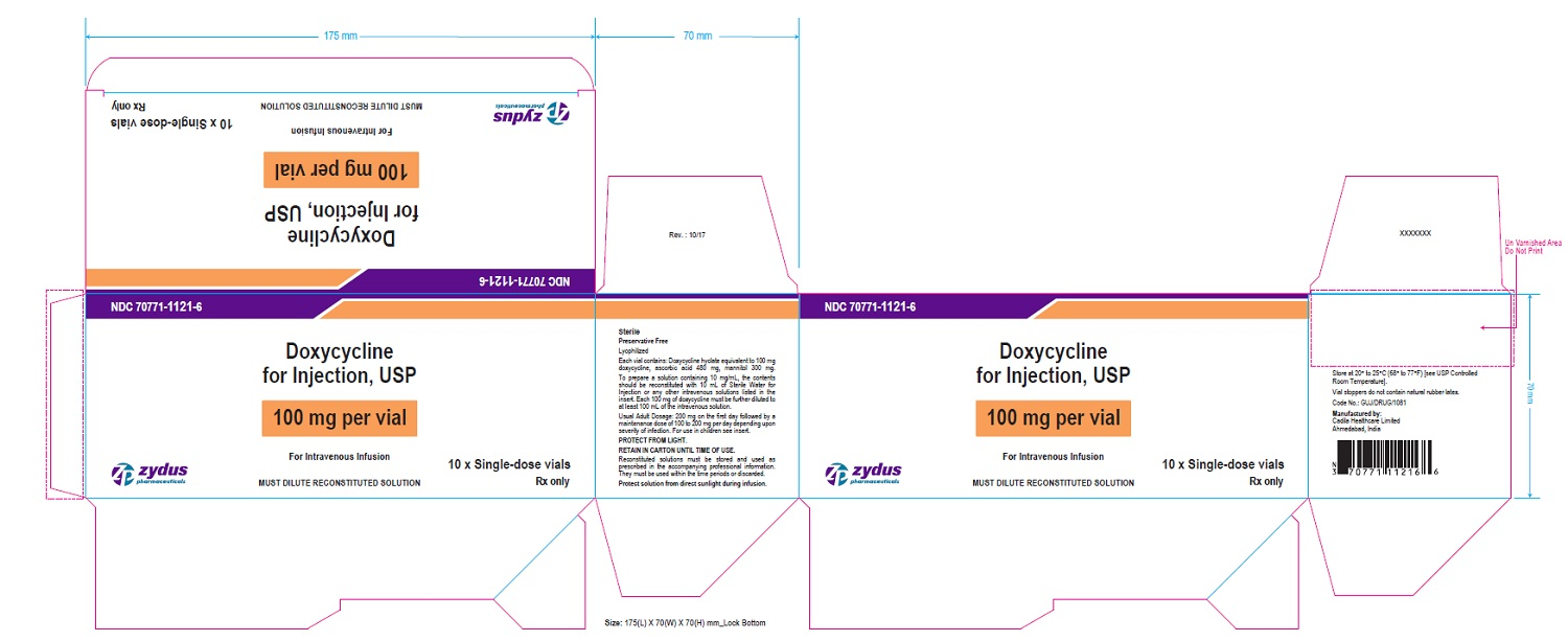 100 mg per vial Carton Label