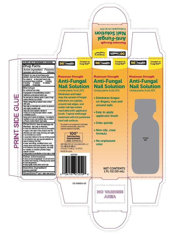 Dollar General Antifungal Nail Solution Box