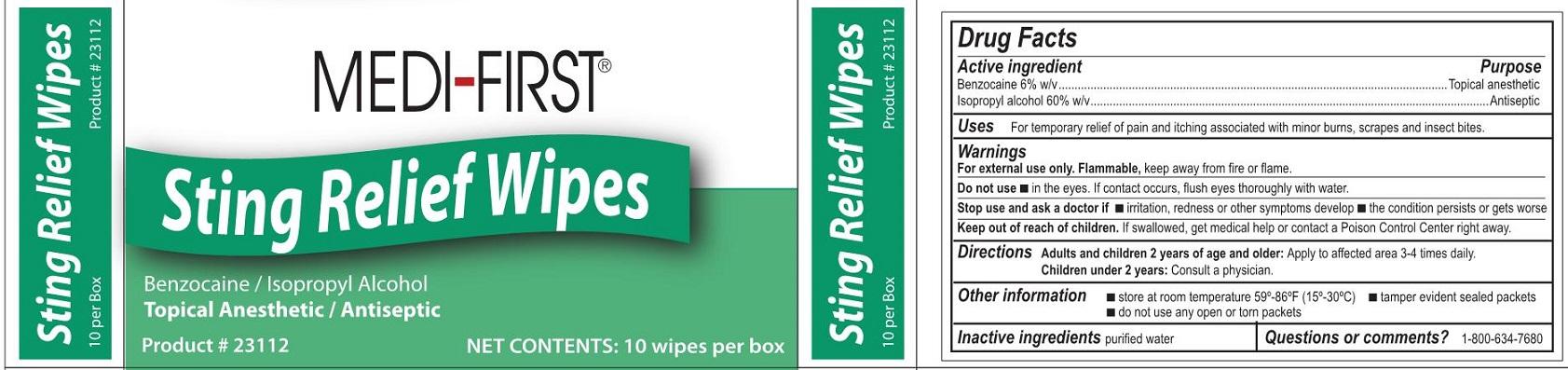 Mf StingRelief Wipes Label