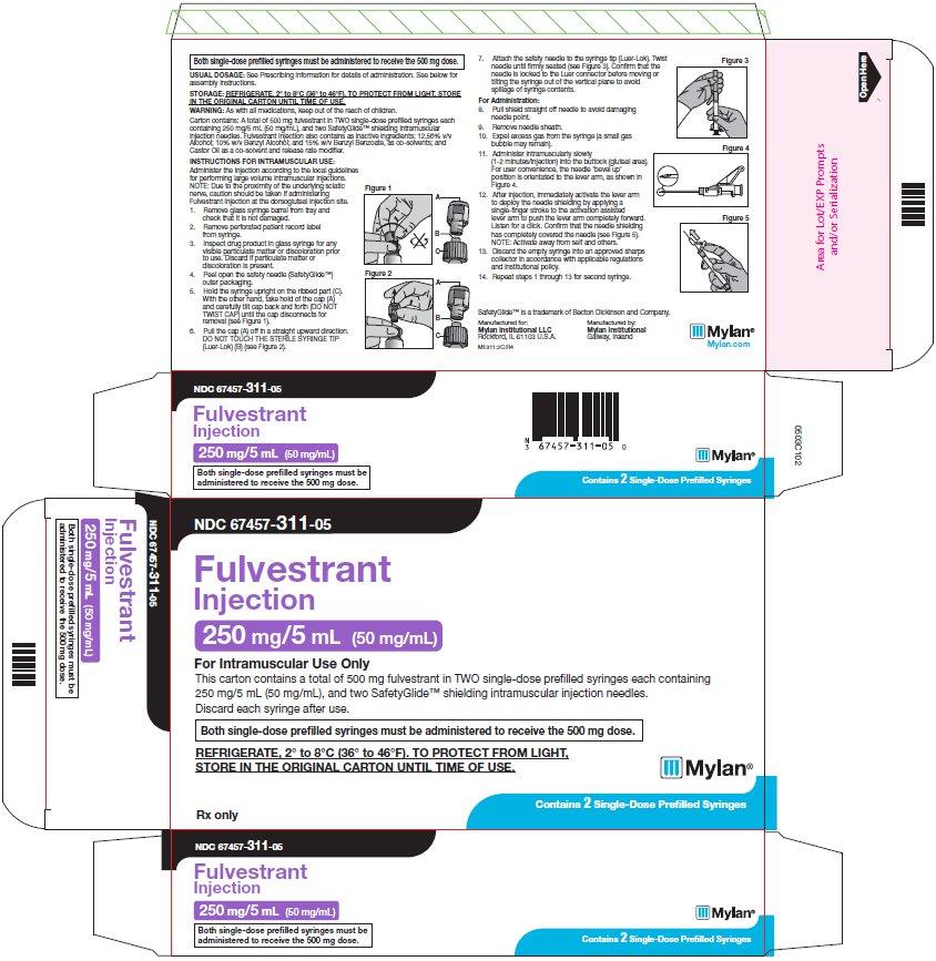 Fulvestrant Injection 250 mL/5 mL Carton Label