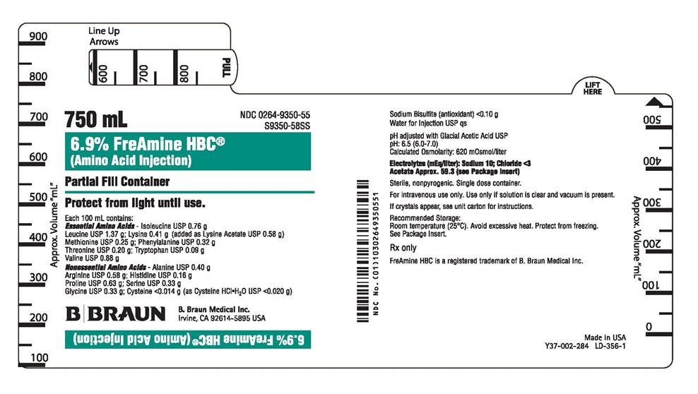S9350-58SS 750 mL Container label