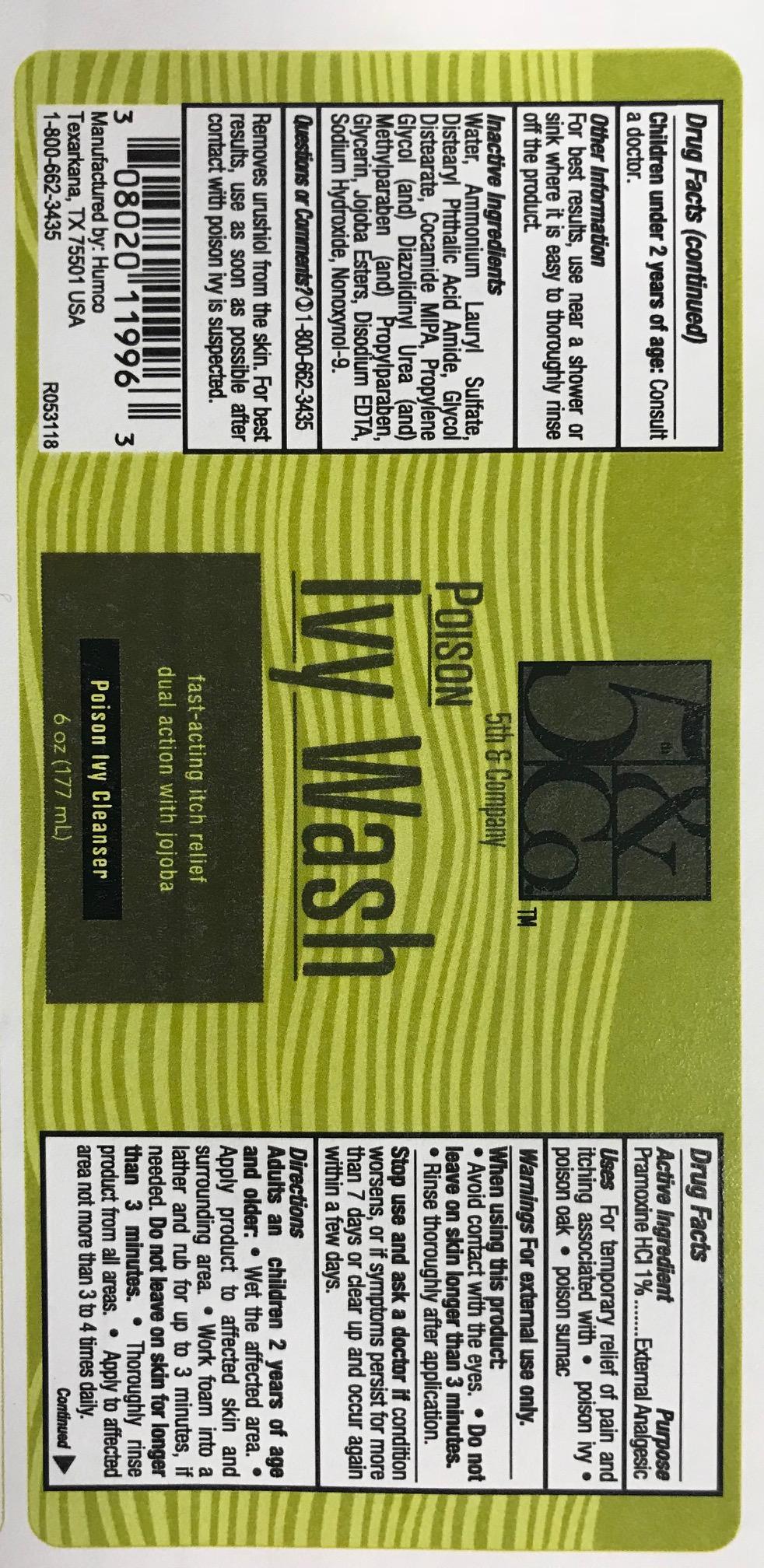 Poison Ivy Label