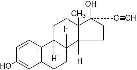 Ethinyl Estradiol structural formula
