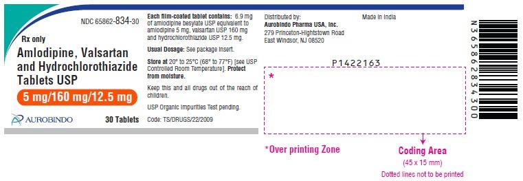 PACKAGE LABEL-PRINCIPAL DISPLAY PANEL - 5 mg/160 mg/12.5 mg (30 Tablets Bottle)