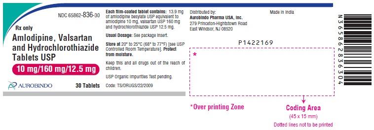 PACKAGE LABEL-PRINCIPAL DISPLAY PANEL -10 mg/160 mg/12.5 mg (30 Tablets Bottle)