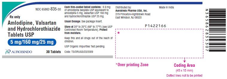 PACKAGE LABEL-PRINCIPAL DISPLAY PANEL - 5 mg/160 mg/25 mg (30 Tablets Bottle)