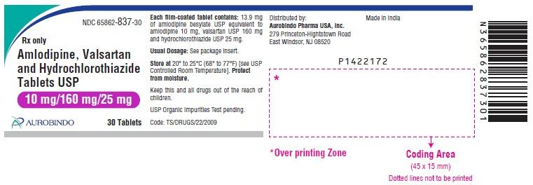 PACKAGE LABEL-PRINCIPAL DISPLAY PANEL - 10 mg/160 mg/25 mg (30 Tablets Bottle)