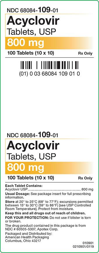 Acyclovir Tablets 800 mg Carton Label