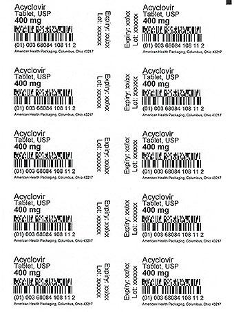 400 mg Acyclovir Tablet Cart Print