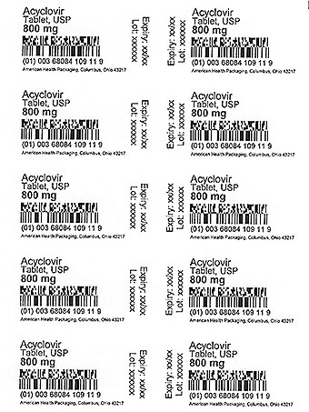 800 mg Acyclovir Tablet Card Print