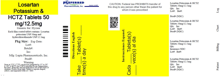 Losartan Potassium & HCTZ Tablets 50mg/12.5mg