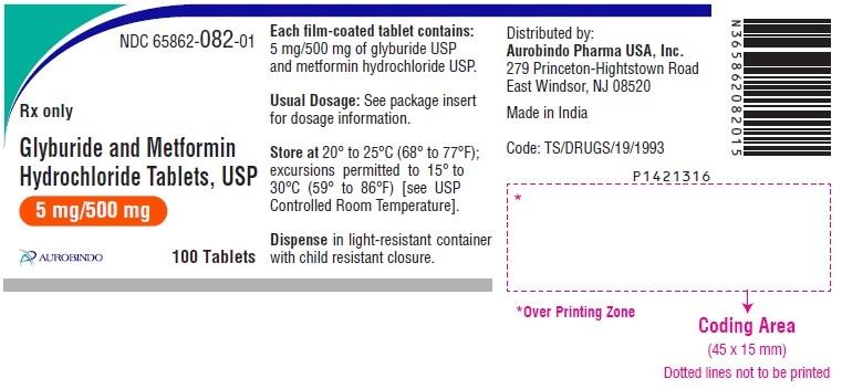 PACKAGE LABEL-PRINCIPAL DISPLAY PANEL - 5 mg/500 mg (100 Tablets Bottle)