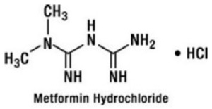 Metformin Hydrochloride Chemical Structure
