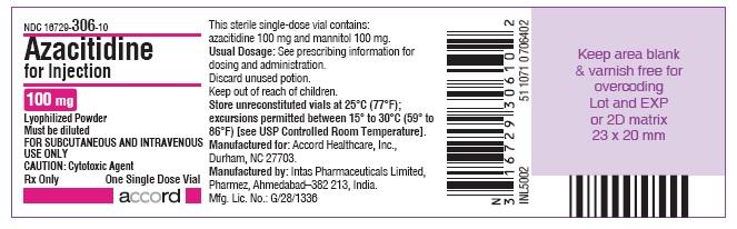Principal Display Panel - 100 mg azacitidine-for-inj-label